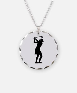 Golf woman Necklace
