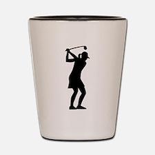 Golf woman Shot Glass