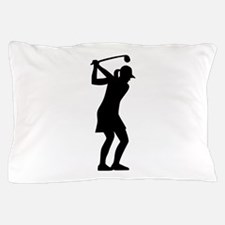 Golf woman Pillow Case