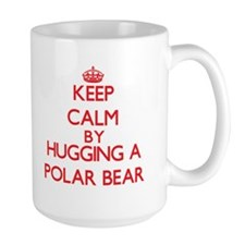 Keep calm by hugging a Polar Bear Mugs