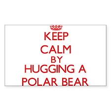 Keep calm by hugging a Polar Bear Decal