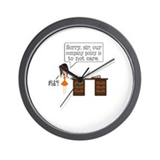 Company Policy Wall Clock