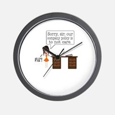 Company Policy Wall Clock