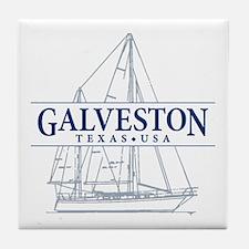 Galveston - Tile Coaster