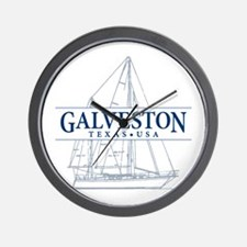 Galveston - Wall Clock