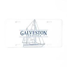 Galveston - Aluminum License Plate
