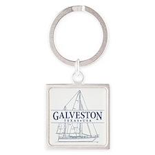 Galveston - Square Keychain