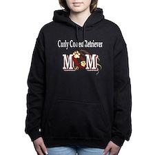 curly coated retrieve mom Hooded Sweatshirt