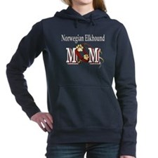 norwegian elkhound mom darks.png Hooded Sweatshirt