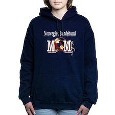 norwegian lundehund mom darks.png Hooded Sweatshir