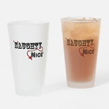 Naughty not Nice Drinking Glass