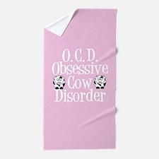 Pretty Pink Cow Beach Towel