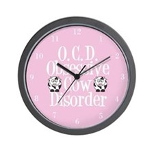 Pretty Pink Cow Wall Clock