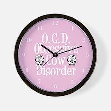 Pretty Pink Cow Wall Clock