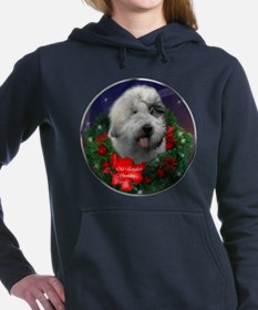 old english sheepdog banded.png Hooded Sweatshirt