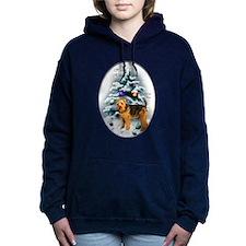 Welsh Terrier Christmas apparel.png Hooded Sweatsh
