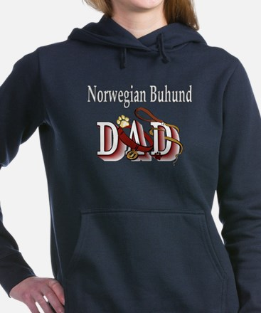 norwegian buhund dad trans.png Hooded Sweatshirt