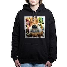 summer garden pekingese2.png Hooded Sweatshirt