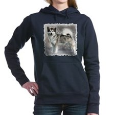 alaskan malamute in snow 4.png Hooded Sweatshirt