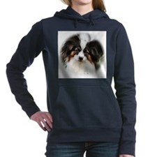 papillon watercolor round.png Hooded Sweatshirt