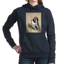 saint bernard watercolor matted.png Hooded Sweatsh