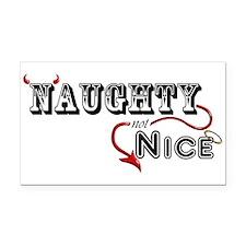 Naughty Not Nice Rectangle Car Magnet