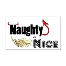 Naughty or Nice Rectangle Car Magnet