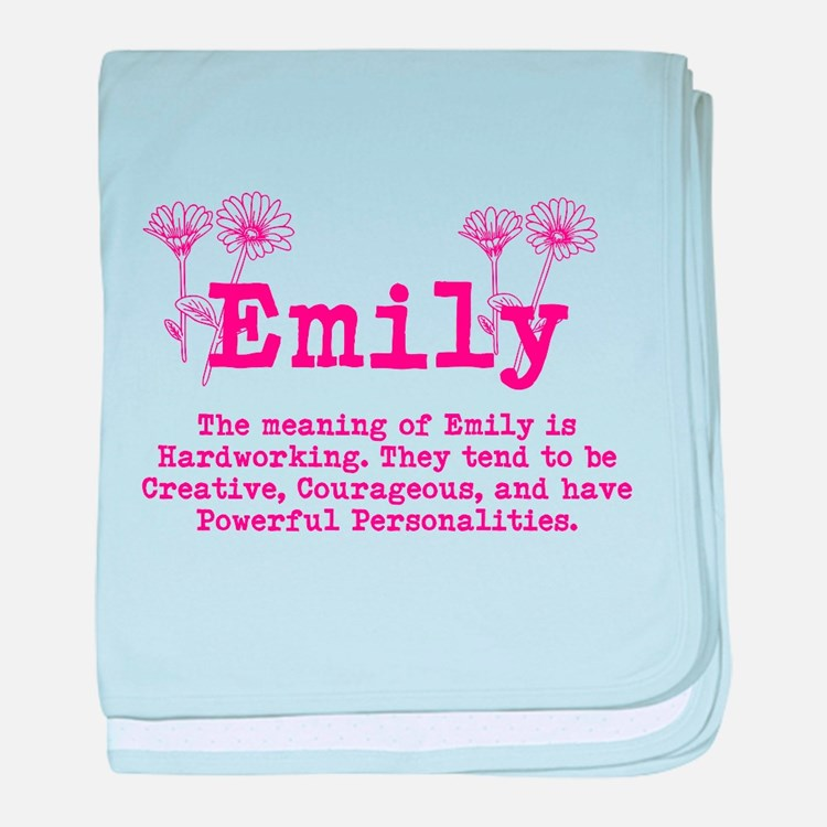 The Meaning of Emily baby blanket