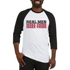 REAL MEN MAKE TWINS Baseball Jersey