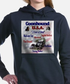 coonhound variety ssquare redo.png Hooded Sweatshi