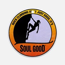 Rock Climber female - Soul Good Round Ornament