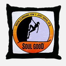 Rock Climber female - Soul Good Throw Pillow