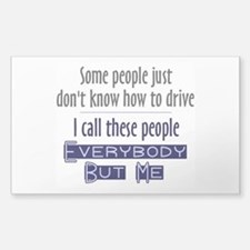Bad Drivers (Blue) Decal