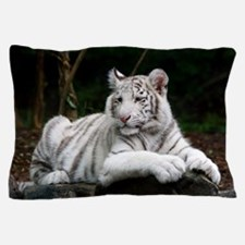 White Tiger Cub Pillow Case