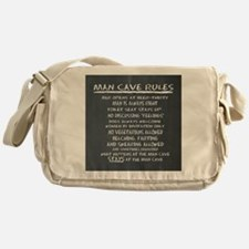 Man Cave Rules Messenger Bag