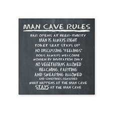 Man Cave Rules Sticker