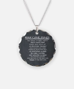 Man Cave Rules Necklace
