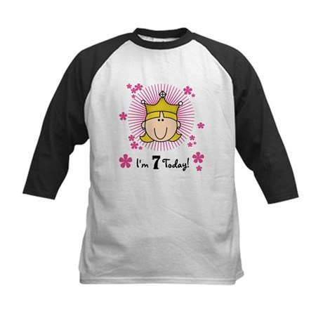 Princess 7th Birthday(blond) Kids Baseball Jersey