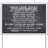 Man cave sign Yard Signs