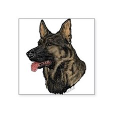 Sable German Shepherd face Oval Sticker