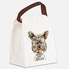 Yorkie Sketch Canvas Lunch Bag