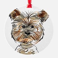 Yorkie Sketch Ornament