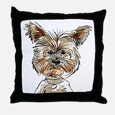 Yorkie Sketch Throw Pillow