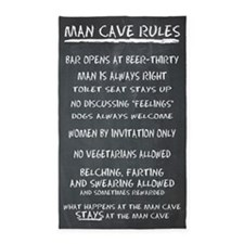 Man Cave Rules 3'X5' Area Rug