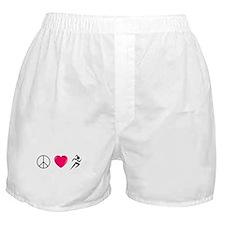 Peace Love Run Boxer Shorts