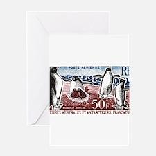 Vintage 1963 FSAT Adelie Penguins Postage Stamp Gr