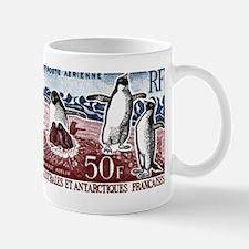 Vintage 1963 FSAT Adelie Penguins Postage Stamp Mu