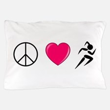 Peace Love Run Pillow Case