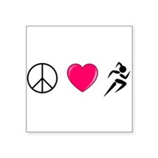 Peace Love Run Sticker