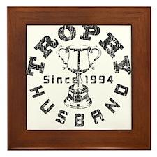 Trophy Husband Since 1994 Framed Tile